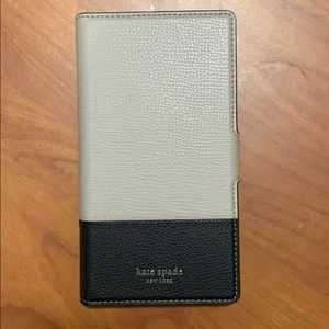 Kate Spade New York Tan and Black Wallet Case